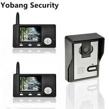 Yobang Security freeship 2.4ghz 3.5″ Wireless Video Door Phone Intercom Doorbell Home Security 1-camera 2 Monitors home doorbell