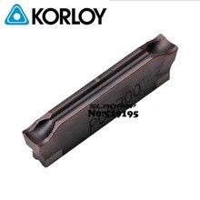 MGMN200 02 L pc5300 MGMN300 02 L pc5300 MGMN400 02 L pc5300 원래 korloy 초경 절삭 삽입 선반 커터 공구 선삭