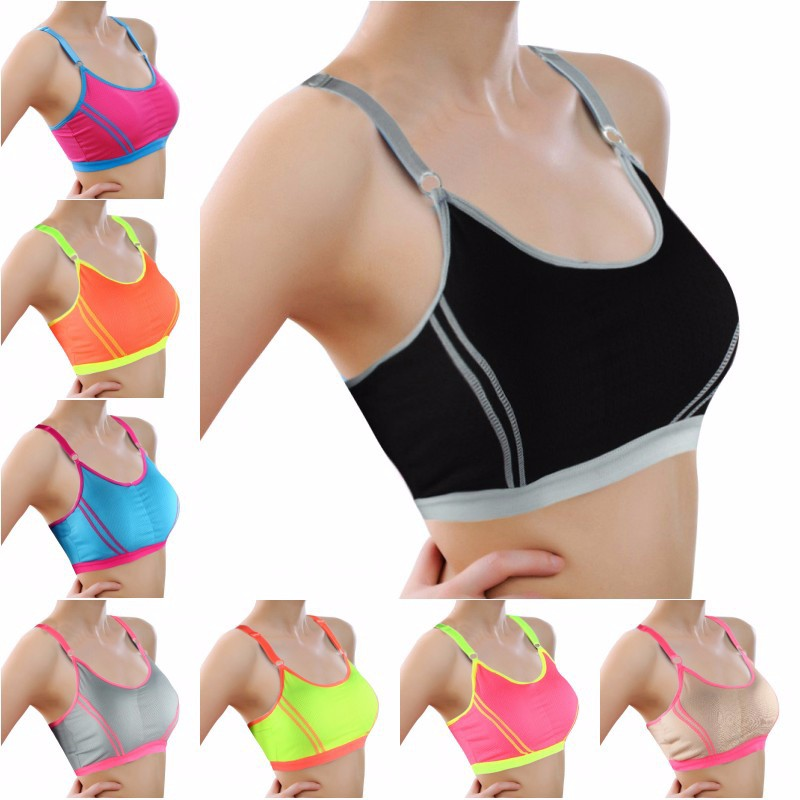 Fitness Women Yoga Top Sexy Push-up Sports Bra Yoga Fitness Vest Sport Bra Workout Running Top Bra 2