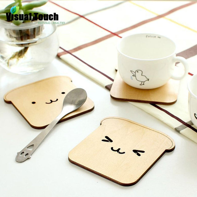 8 Styles Vintage Retro Cute Animal Hollow Wooden Carved Cup Mug Coasters Table Pad Shop Bar Tea Coffee Cup Mat Holder Gift