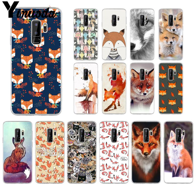 Half-wrapped Case Phone Bags & Cases Frugal Yinuoda Animal More Cute Fox Cat Novelty Fundas Phone Case Cover For Samsung S8 Plus S8 S9 Plus S9 S7 Edge S6edge Plus Promoting Health And Curing Diseases