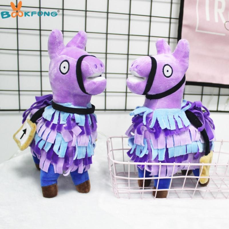 Fortnite Troll Stash Llama Plush Toy Hot Game Soft Alpaca Rainbow Horse Stash Stuffed Doll Toys Kids Birthday Gift 27cm