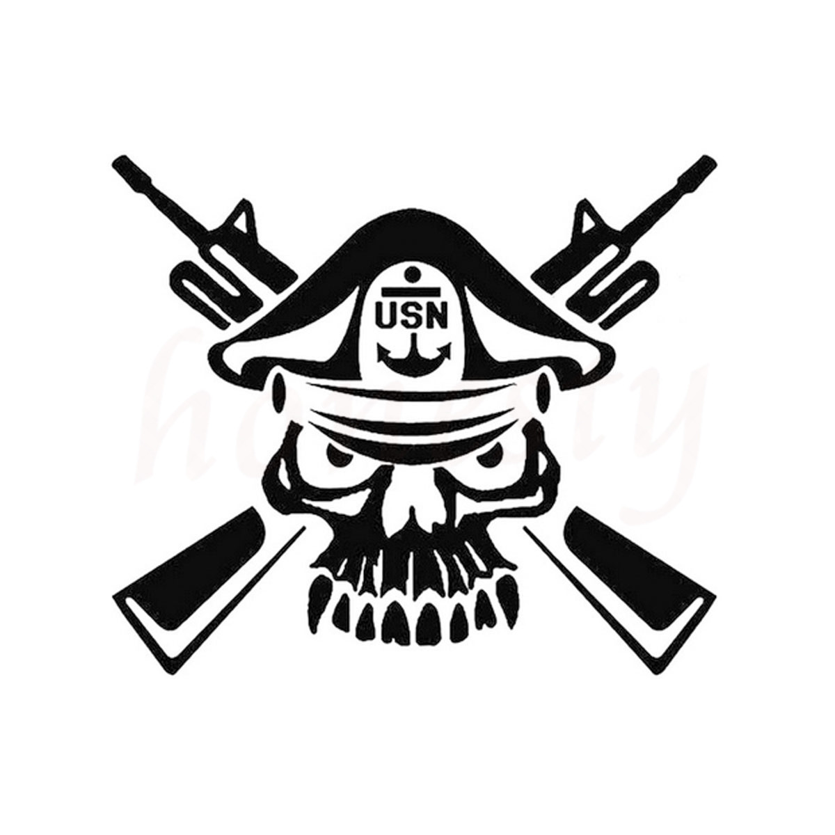 Navy Master Chief Skull Cross Car Stickers Wall Home Glass