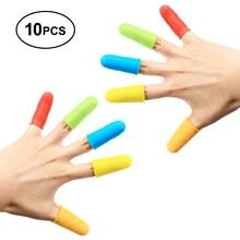 Gel Finger Protector Elastic Silicone Sleeve Scald-proof Anti-slip Anti-Burn Cot Cap, Red/Blue/Yellow/Orange/Green, White 10pcs anti static elastic finger cots stalls yellow size l 50 pcs