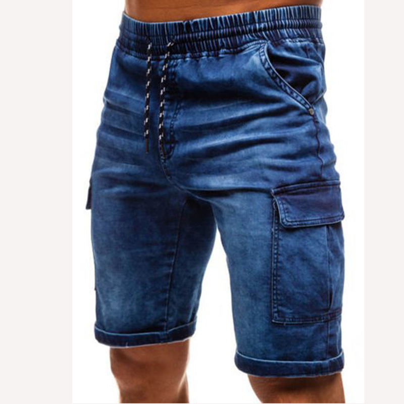 Jeans Men Summer Short Straight-Pants Streetwear Skinny Thin Casual Fashion Beach Hip-Hop