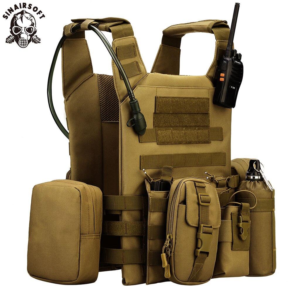 Gilets tactiques JPC gilet Molle Airsoft Nylon engins militaires poches réglable chasse CS amphibie armée tir gilet Paintball