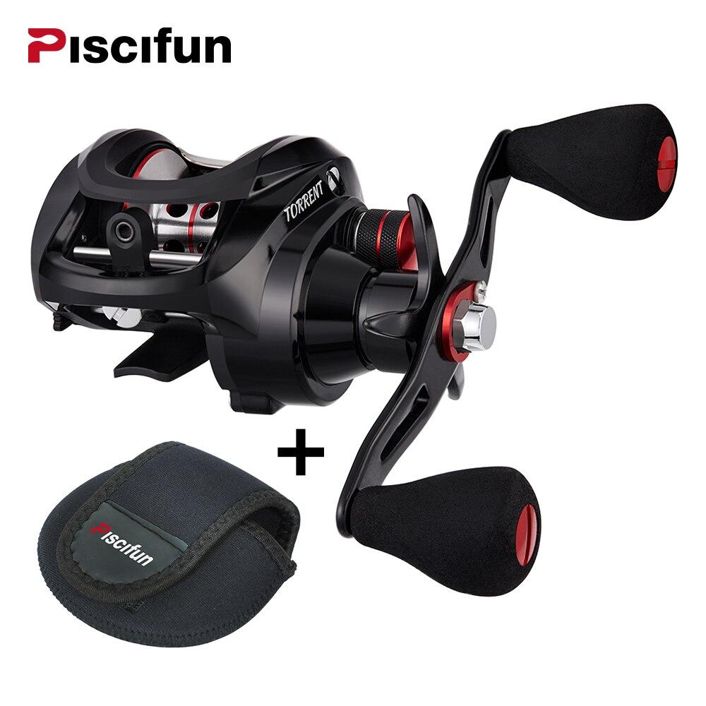 Piscifun Torrent Fishing Reel With Baitcasting Reel Bag 8.1kg Max Drag 7.1:1 Gear Ratio Magnetic Brake light fishing Reel