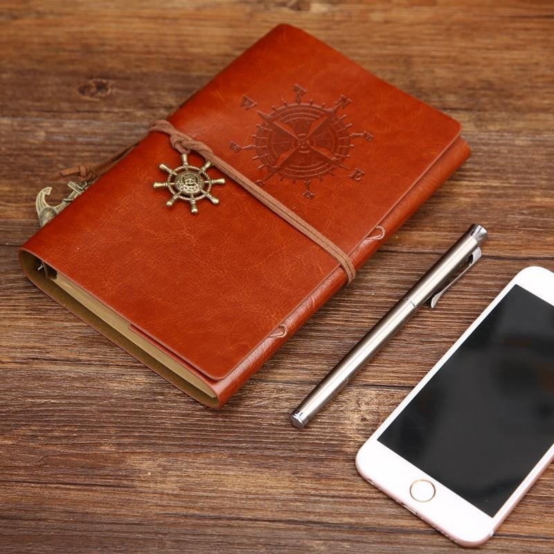 2017 Vintage Pirát A5 Deník Notebook Agenda s faux koženým obalem - Bloky a záznamní knihy - Fotografie 4