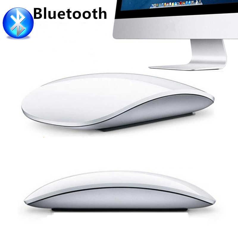 Волшебная мышь 2 сенсорного колеса Bluetooth Беспроводная игровая мышь  Ультра тонкая Мода для Apple стиль настольный a2e4aa3715b9e