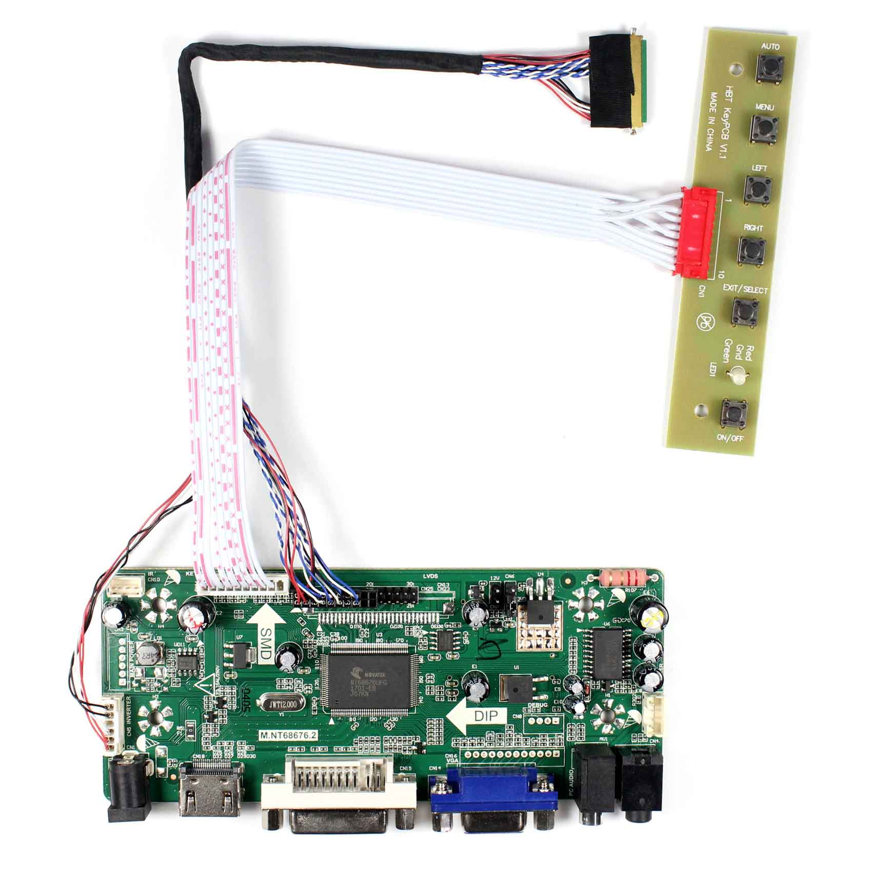 HDMI VGA DVI Audio LCD Controller Board For many types of LCD Panel and DIY LCD Monitor(Must to Provide model type when order )