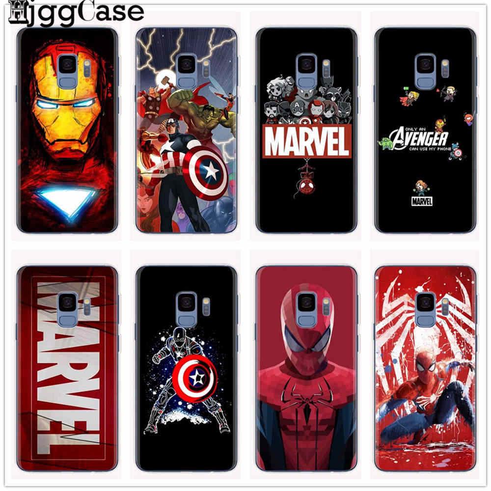 Marvel avengers heros comics capa para samsung galaxy s8 s9 s10 plus s6 s7 j3 j5 j4 j7 j8 j6 a6 a7 a8 a9 mais 2018 capa