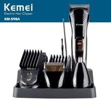 Kemei Professional 7 In 1 Electric Hair Trimmer Rechargeable Shaver Razor Cordless Adjustable Hair Clipper KM-590A цены
