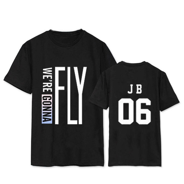 KPOP GOT7 FLY IN JAPAN Tokyo álbum camisas K-POP Casual algodón ropa camiseta Camiseta de manga corta Tops camiseta DX362