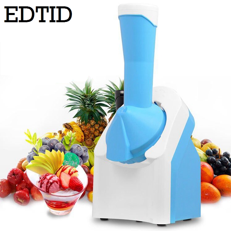 EDTID Electric Fruit ice cream maker Household DIY Mini Automatic Soft icecream Making Machine Frozen Dessert EU цена и фото