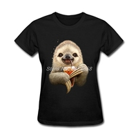 Newest Womens T Shirt Design SLOTH SOFT DRINK High Quality Tees 3D Print Cheap Short Sleeve