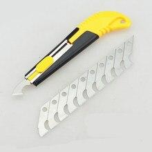 Hoja de plástico acrílico de PVC, cortador de Perspex, herramienta de corte de gancho con 10 cuchillas de repuesto, novedad de 2018