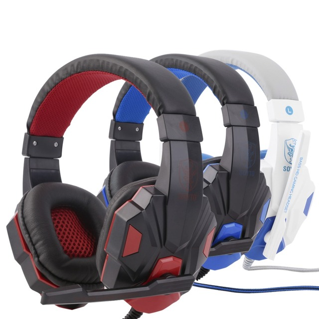 3.5mm Surround Stereo Gaming Headset Headband Headphone with Mic for PC 2