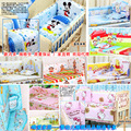 Hot 90*50CM Baby Bedding Sets Include Pillow Bumpers Mattress Cartoon Baby Cot Bedclothes Decoration,5pcs In 1 Set Fre Shipping