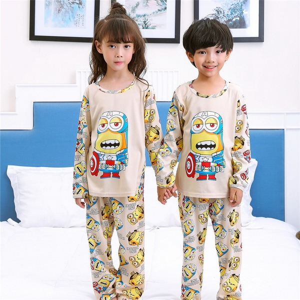 9af0ce360 Pajamas kids Cartoon Boys Sleepwear Girls Pyjamas Leisure Children ...