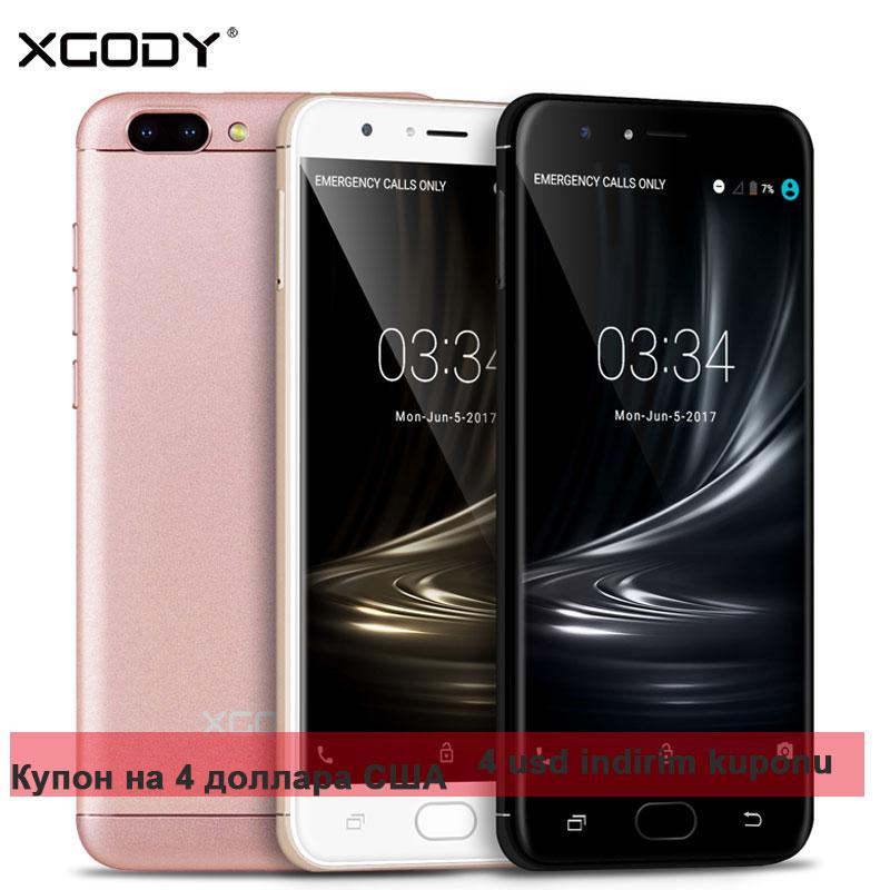 bilder für XGODY D18 5,5 Zoll HD IPS 4G Smartphone 1 GB RAM 16 GB ROM Quad Core 3000 mAh Unterstützung GPS 2SIM Telefon Celular Setzte telefon