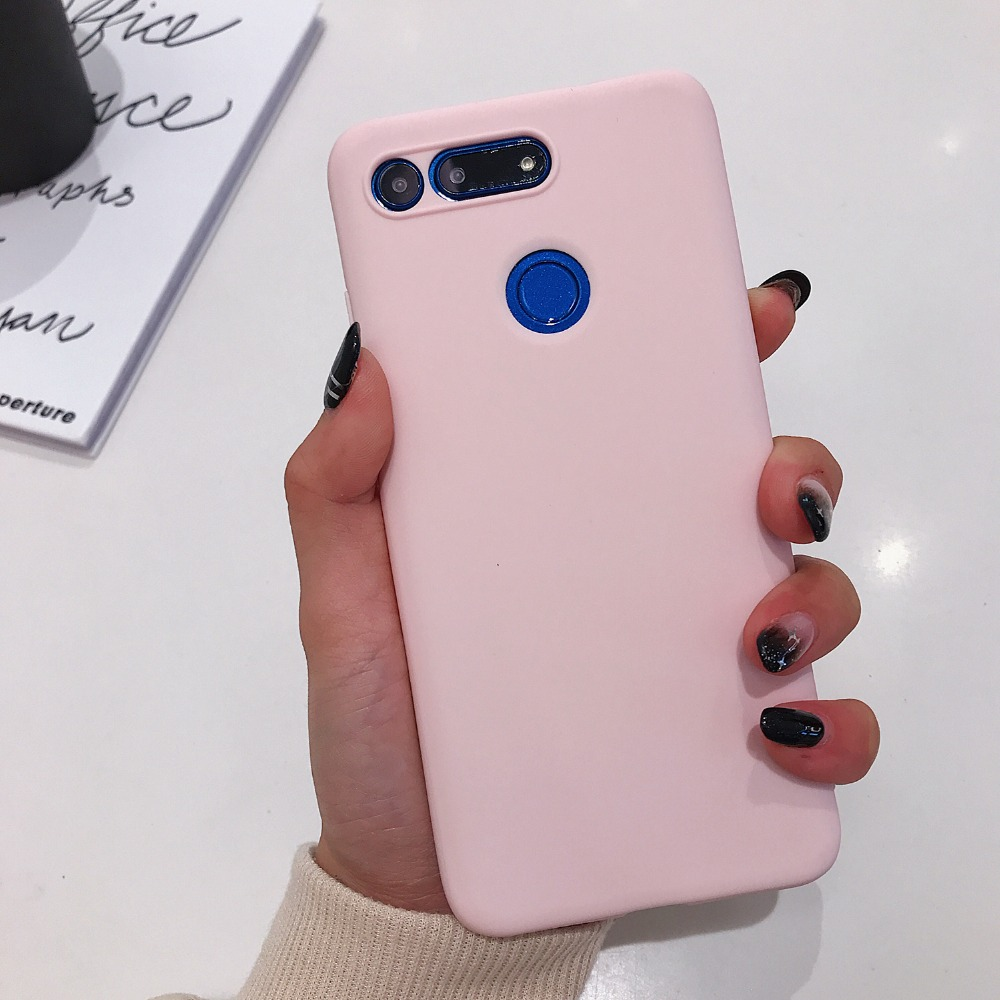 Huawei Honor View 20 Case Candy Color Slim Soft Silicon Phone Case For Huawei Honor V20 View20 Matte Full Body TPU Back Cover (6)