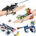 Panlos 622001 ~ 04 Guerras Anel Mágico Tijolo Elasticidade Suave Variedade Pulseira Ajustável Conjunto de Blocos de Construção Tijolos Brinquedos para Crianças Presente