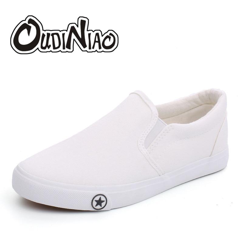 db0cea8b OUDINIAO duży rozmiar męskie buty płótnie Slip On mężczyźni buty w stylu  casual 2019 oddychające męskie