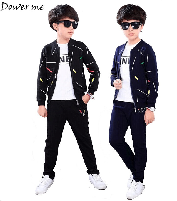 Clothing Set Boys Sport Suit Children Clothes Child Active Costume Boy Suits for Boys Coat+T-shirt+Pants 3PCS Sets Tracksuit teenage girls clothes sets camouflage kids suit fashion costume boys clothing set tracksuits for girl 6 12 years coat pants
