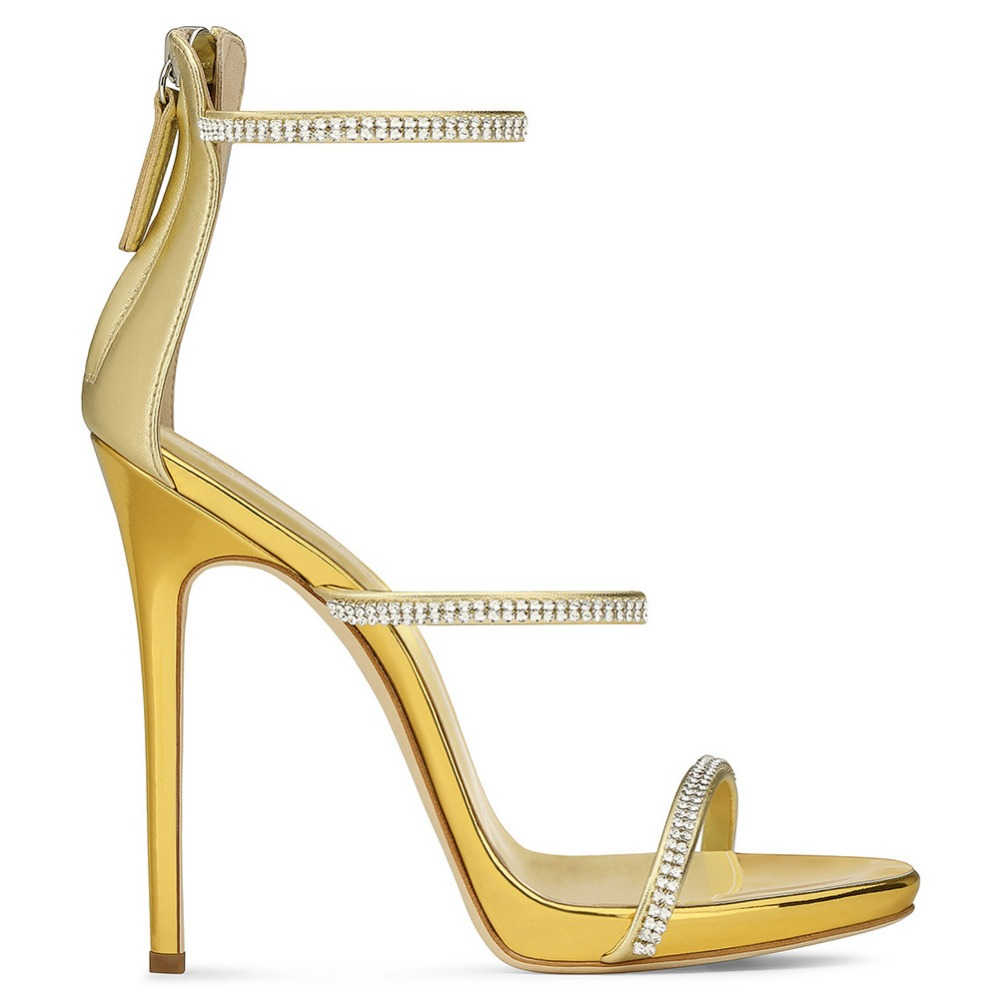 MAVIRS Brand Woman Shoes 12CM Extreme High Heels Sandals Pumps Stiletto  Shoes Champagne Gold Gladiator Sandalias EU Size 35 46-in High Heels from  Shoes on ... 7be8dbcb72c5