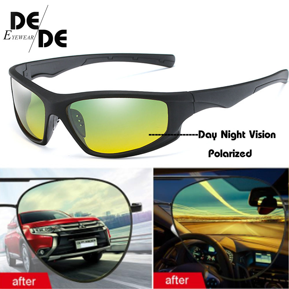 New Day Night Vision Polarized Glasses Multifunction Men Sunglasses Reduce Glare Driving Sun Glass Goggles Eyewear