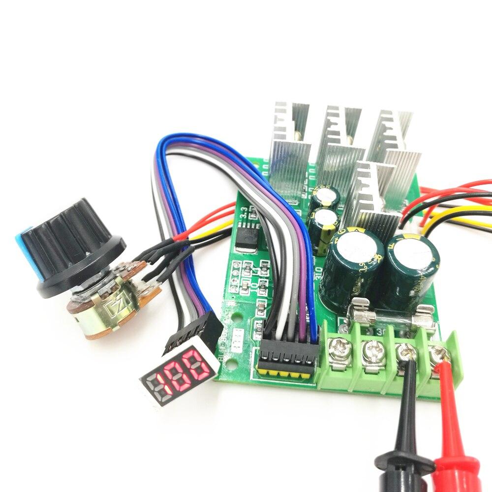 Hospitable Pwm Dc Motor Speed Controller Digital Display 0~100% Adjustable Drive Module 6v~60v Input Max30a Motor Controller