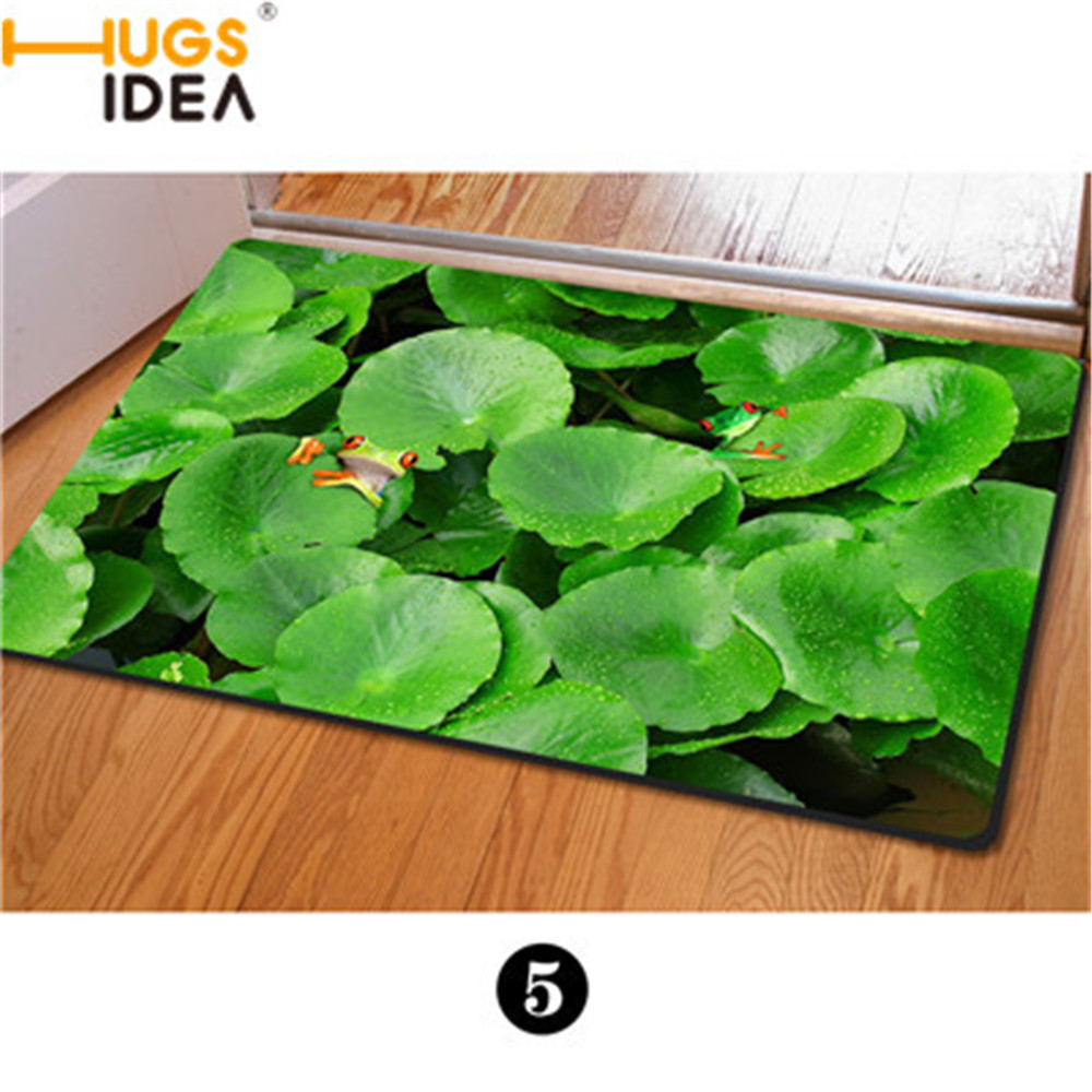3D Zoo Animals Front Entrance Carpets Cool Owl Green Plants Floor Mat Anti-Slip Printing Mat for Bathroom Kitchen Carpet Rugs