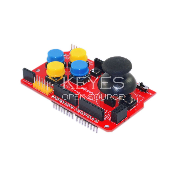 Glyduino JoyStick Shield V1.2 for Arduion with Game Rocker Extension Plate Analog Keyboard Mouse Function