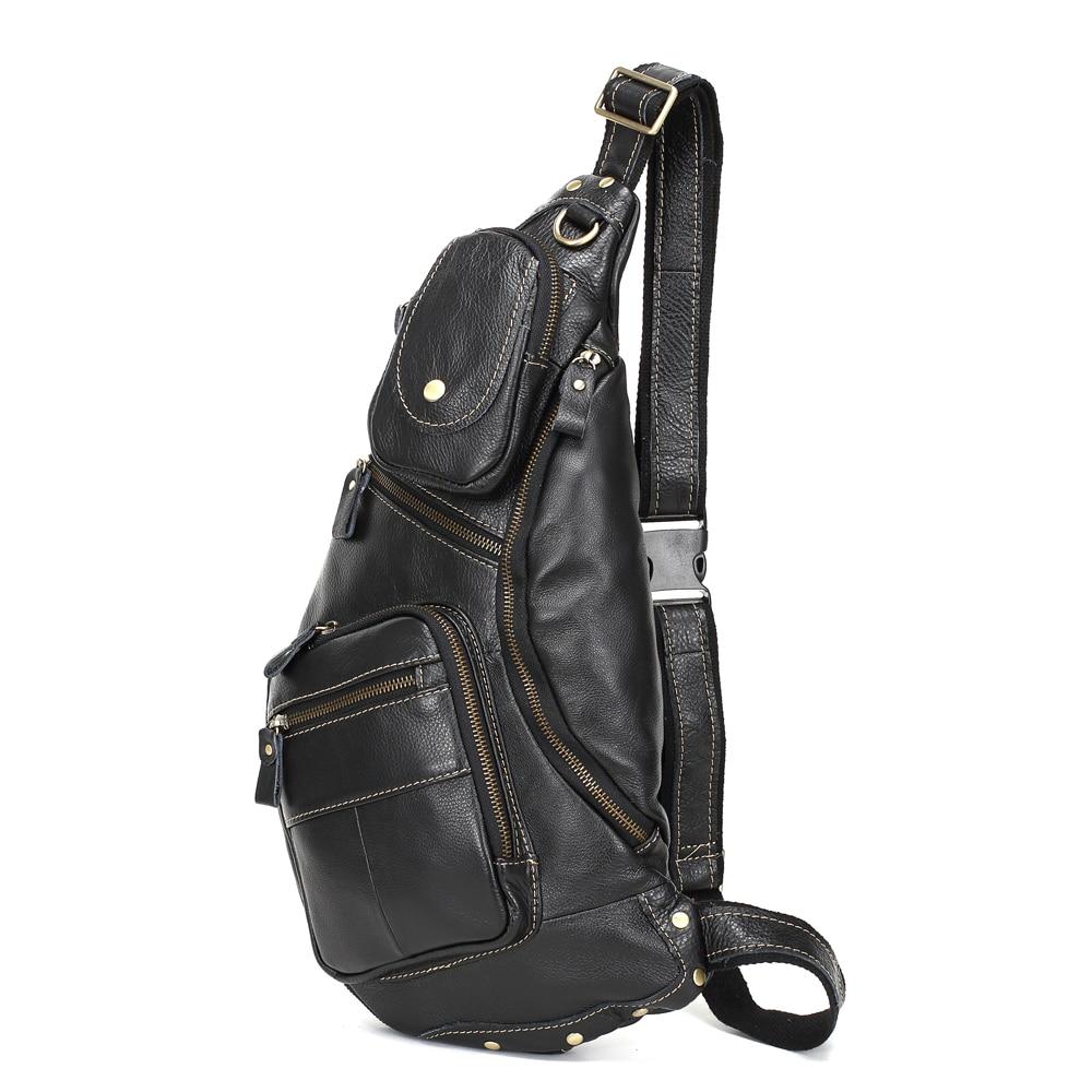 MEIGARDASS Genuine Leather Men Messenger Bag Casual Chest Bag Male Crossbody Bags for men Sling Shoulder Bag travel chest packs стоимость