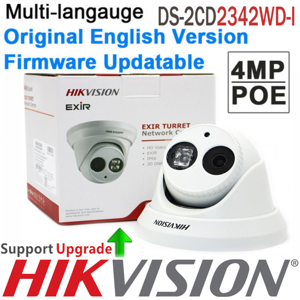 Original english Version DS-2CD2342WD-I 4MP WDR EXIR Turret Network Camera MINI Dome POE IP Camera CCTV Camera upgrade future hikvision cctv poe 4mp camera ds 2cd3345 i hd night version onvif exir turret wdr dome ip security camera replace ds 2cd2345 i
