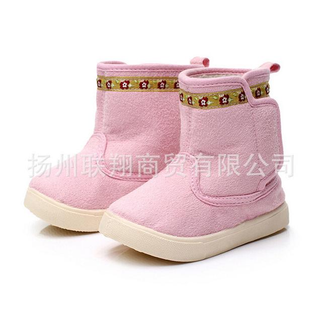 2015 niños del invierno calzan zapatos de las muchachas de la flor de moda botas niñas niños cómodas botas de nieve caliente de las muchachas de los niños calientes botas
