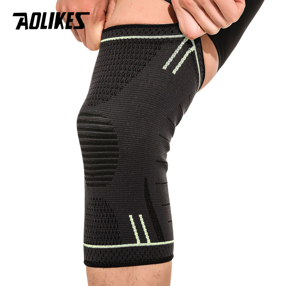 AOLIKES 1 Pcs Knee Protector Compression Sleeve Knee Brace Support for Basketball Running Cycling Hiking
