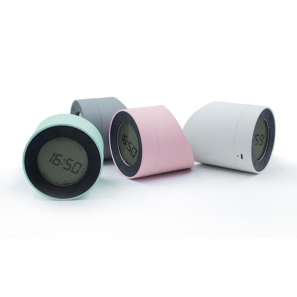 Alarm Clock Turn Night Lamp Creative LED Electronic Alarm Clock USB Charging Digital Clock Mini Small Alarm Clock Desk Lamp