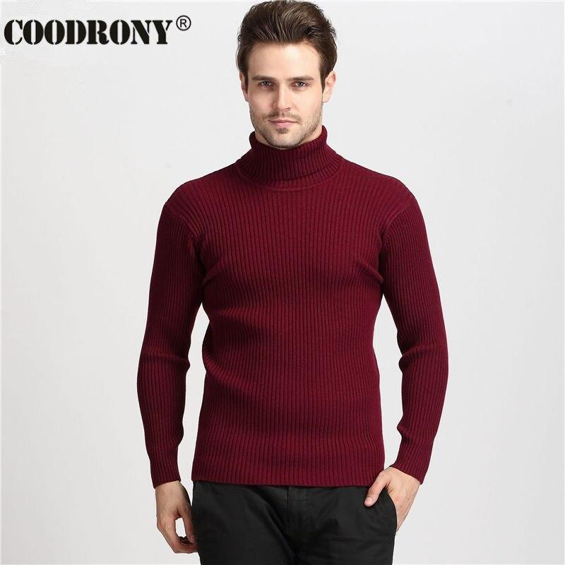 Détails Sur Coodrony Winter Thick Warm 100 Cashmere Sweater Men Turtleneck Mens Sweaters Sl
