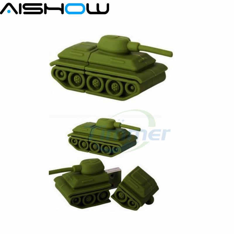 Verde mini Tanques de Flash USB 2.0 Drive de Memória da Vara Pen/Polegar/Car Atacado 4 GB-64 GB