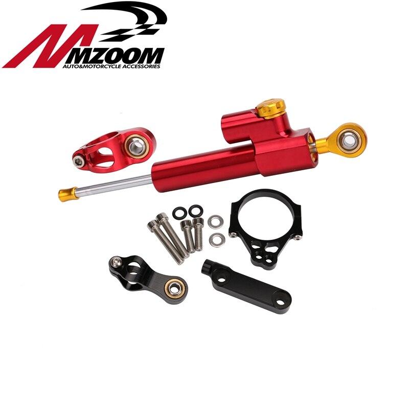 Motorcycle Aluminum CNC Steering Damper Adjustable Cushion Stabilizing Kit Mounting Bracket For Kawasaki Versys 650 1000
