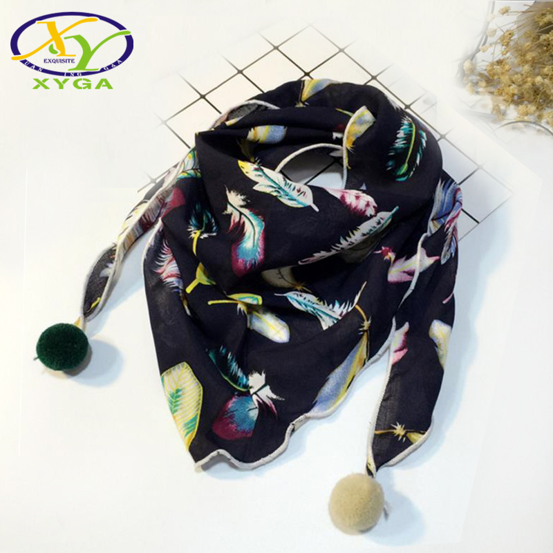1PC2017 Autumn Winter Children's Cotton Triangle Scarf Thin Boys and Girls Cute Small Scarves Child Baby Kids Soft Viscose Scar