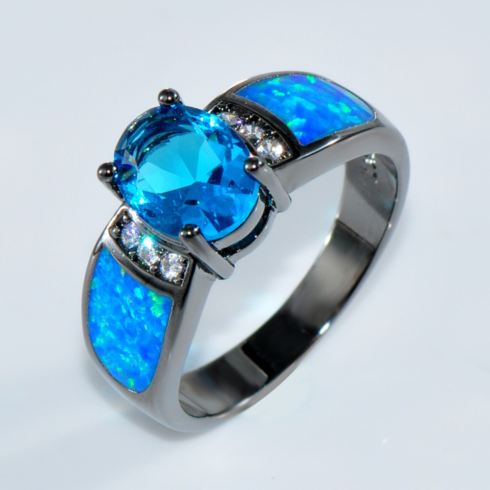 Aliexpresscom Buy Bamos jewelry Women Wedding Ocean Blue Opal