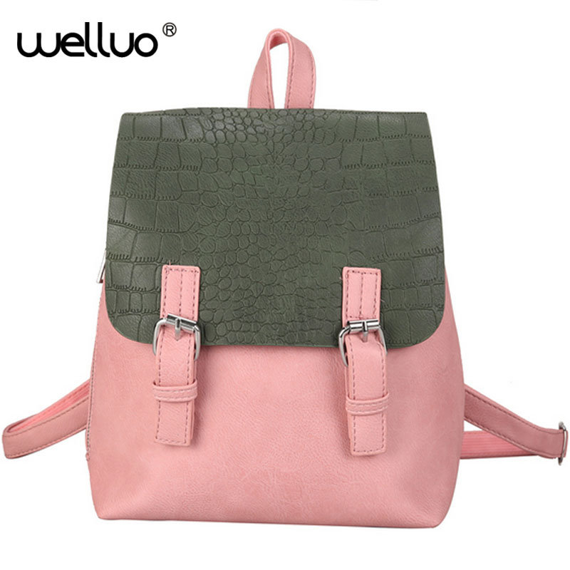 WELLVO HOT New Designed Brand Cool Urban Backpack Double Arrow Women Backpack Quality Fashion Girls School