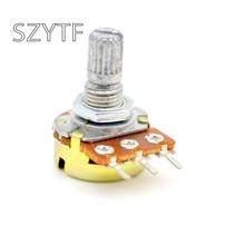 5 pçs/saco wh148 único potenciômetro do amplificador comum 10k 20k 50k 100k 500k .. L: 15mm