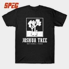 Joshua Tree National Park U2 Band T Shirt Men Music Hip Hop Short Sleeve 100% Cotton Rock Band O Neck Tee Shirt Tops