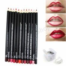 lipliner beauty 12pcs/lot Waterproof Professional Pencil Lip Liner Pencil Set makeup lipstick tool Lip Liner Pencil
