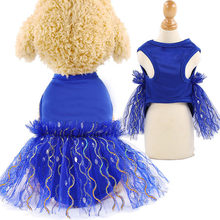 Pet Clothes for Cat Dog Puppy Lace Skirt Princess Tutu Dress Breathable Polyester Mesh Vest T-shirt for Dachshund Poodle Terrier(China)