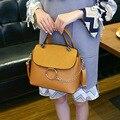 Brand Designer Women Messenger Bags Chains Metal Ring Shoulder Crossbody Bag Matte Patchwork Ladies Scrub PU Leather Handbag FI