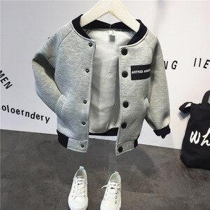 Image 4 - Kinder anzug baumwolle baby Baseball jacke + hoodie + hosen 3 stücke kleidung set Herbst winter baby jungen anzug kinder kleidung set